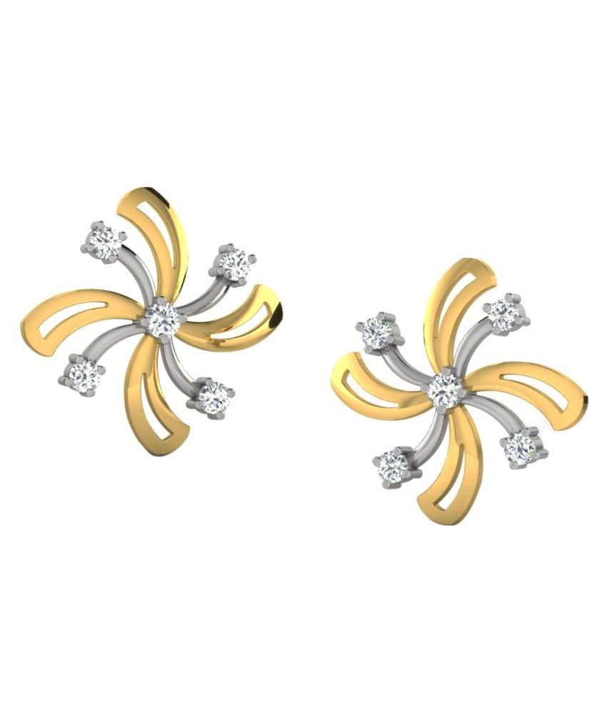 His & Her 9K Yellow Gold Diamond Studs