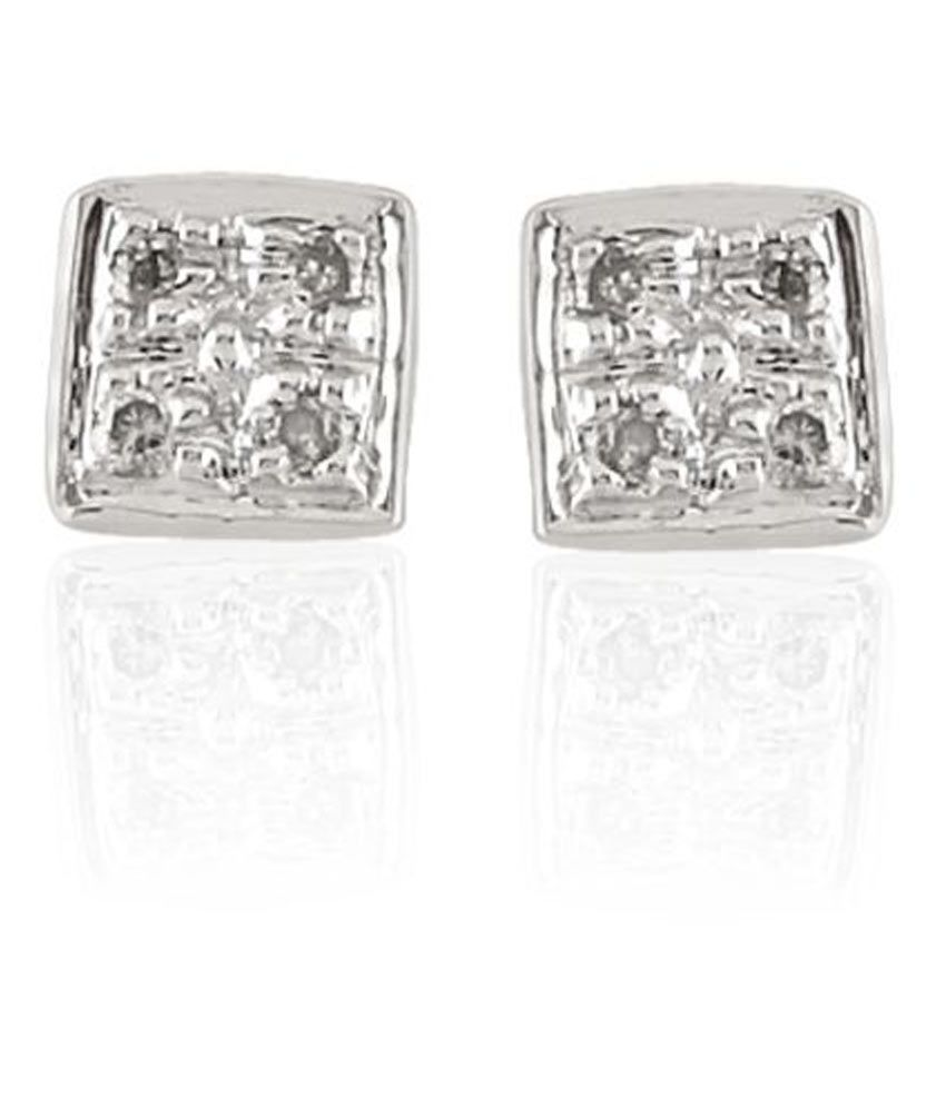 Sparkles 9K White Gold Diamond Studs