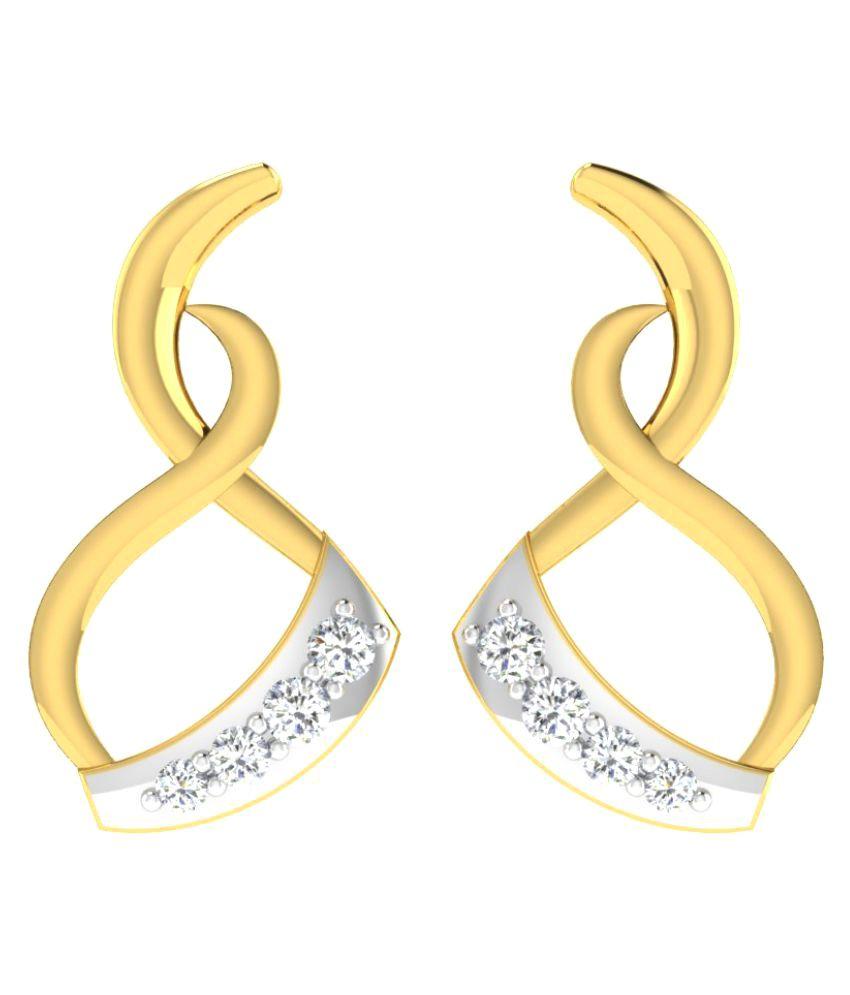 His & Her 9K Yellow Gold Diamond Drop Earrings
