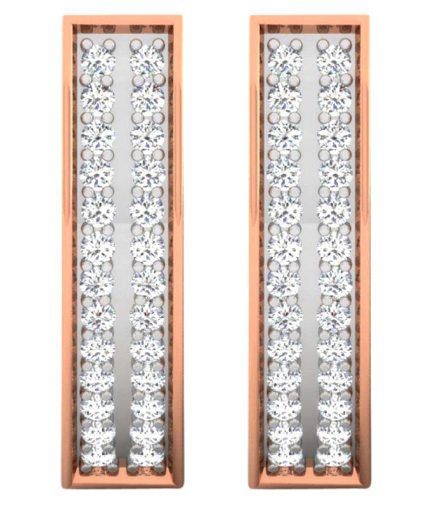 His & Her 18K Rose Gold Diamond Huggies