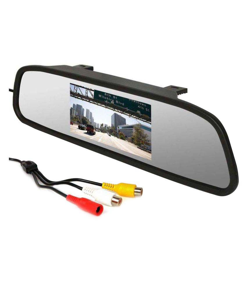 V-Cart Online Services 4 3 InchTft Lcd Screen Rear View Mirror Monitor Car  Reverse Display For Backup Camera For Maruti Ciaz