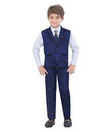 Jeet Blue Silk Boys Suit Set