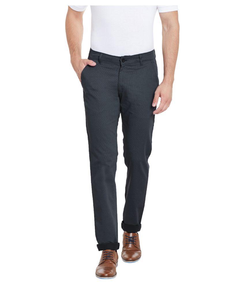 Canary London Grey Slim Flat Trouser