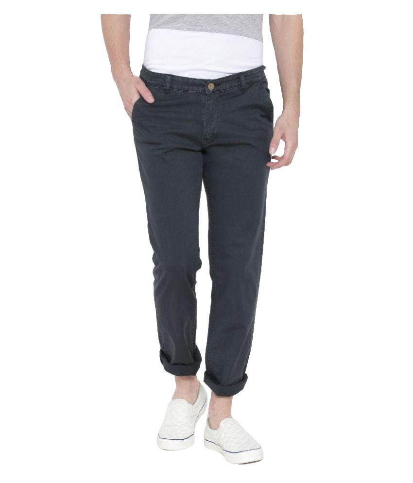 Hubberholme Black Slim Flat Trouser