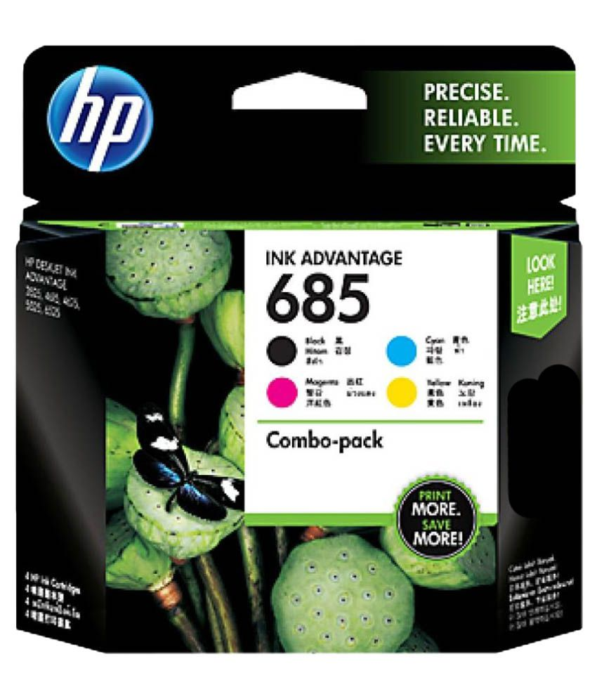 HP 685 4-pack Black Cyan Magenta Yellow Original Ink Advantage Cartridges