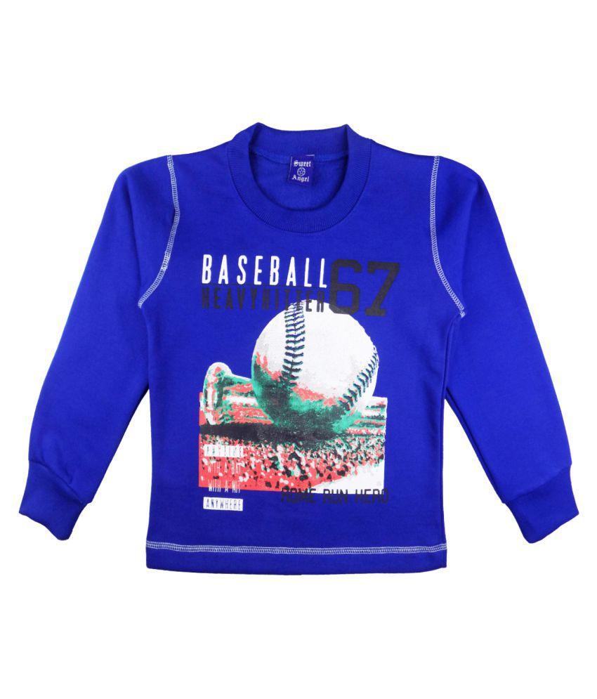 Sweet Angel Blue Sweatshirts For Kids