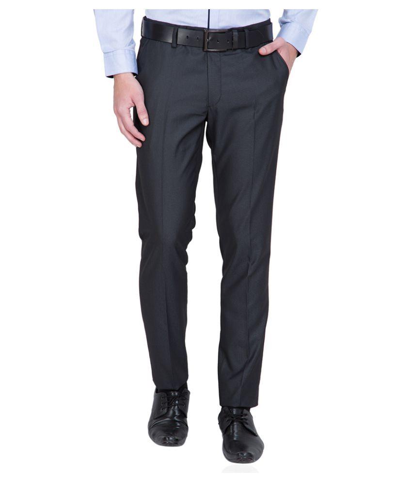 Black Coffee Black Tapered Flat Trouser