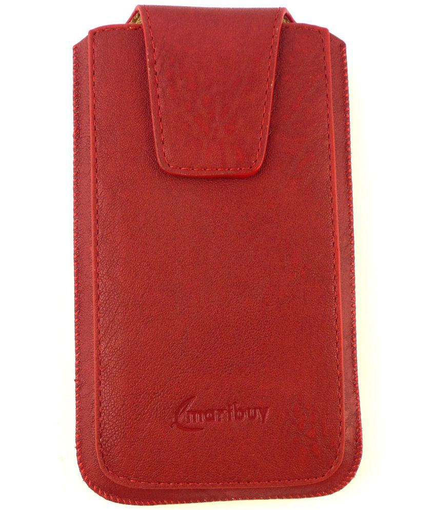 HTC Desire 500 Flip Cover by Emartbuy - Red