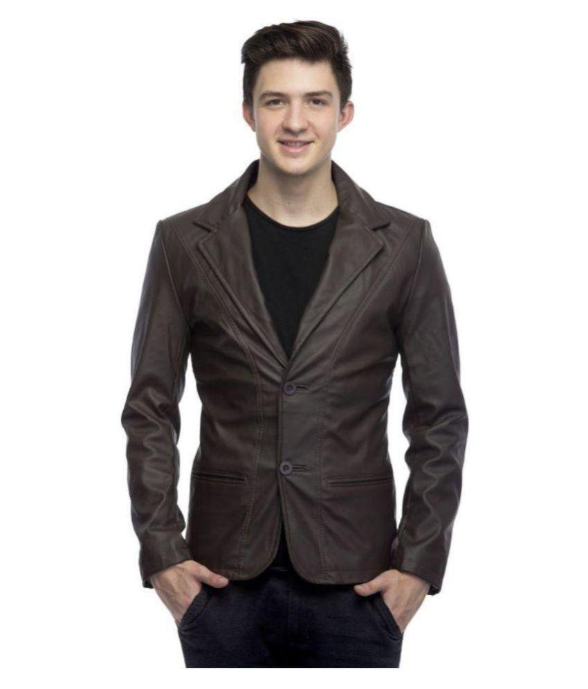 Kirli Brown Leather Jacket - Buy Kirli Brown Leather Jacket Online ...