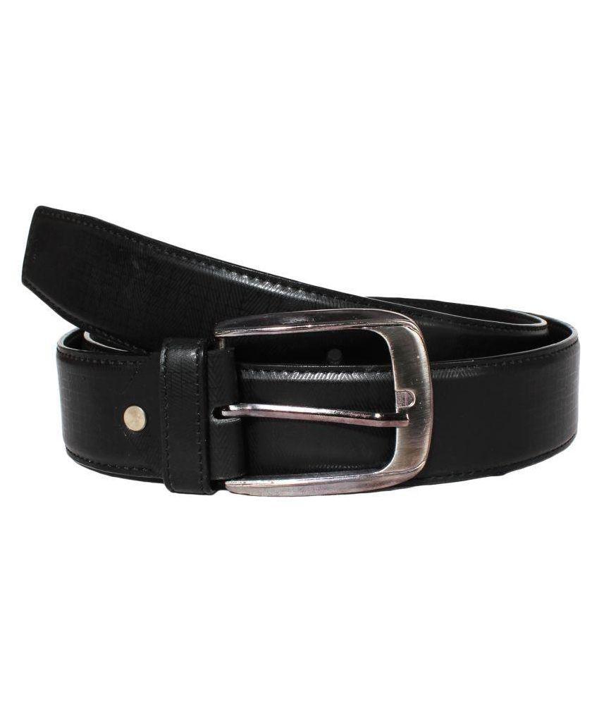 Klaska Black Leather Casual Belts
