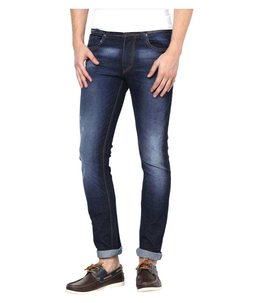 SuperX Dark Blue Skinny Solid