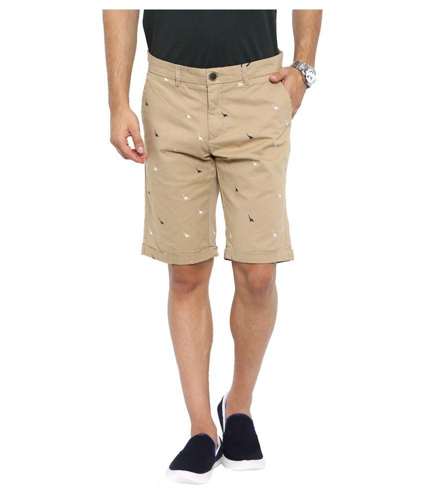 Showoff Khaki Shorts
