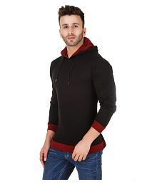 Fabstone Collection Black Hooded T-Shirt for sale  Delivered anywhere in India