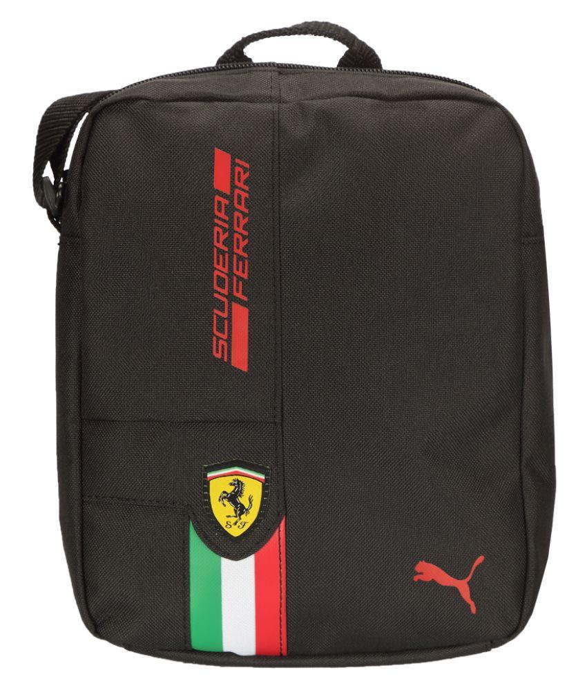 Puma Black Polyster Sling Bag