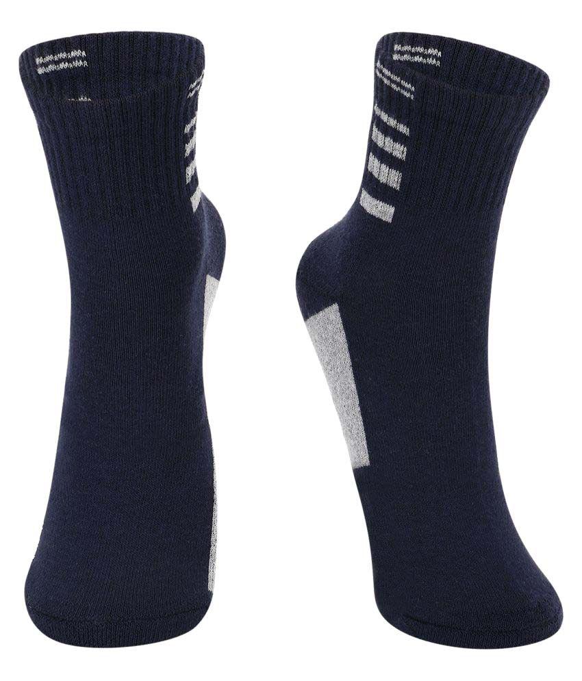 Dukk Navy Casual Mid Length Socks