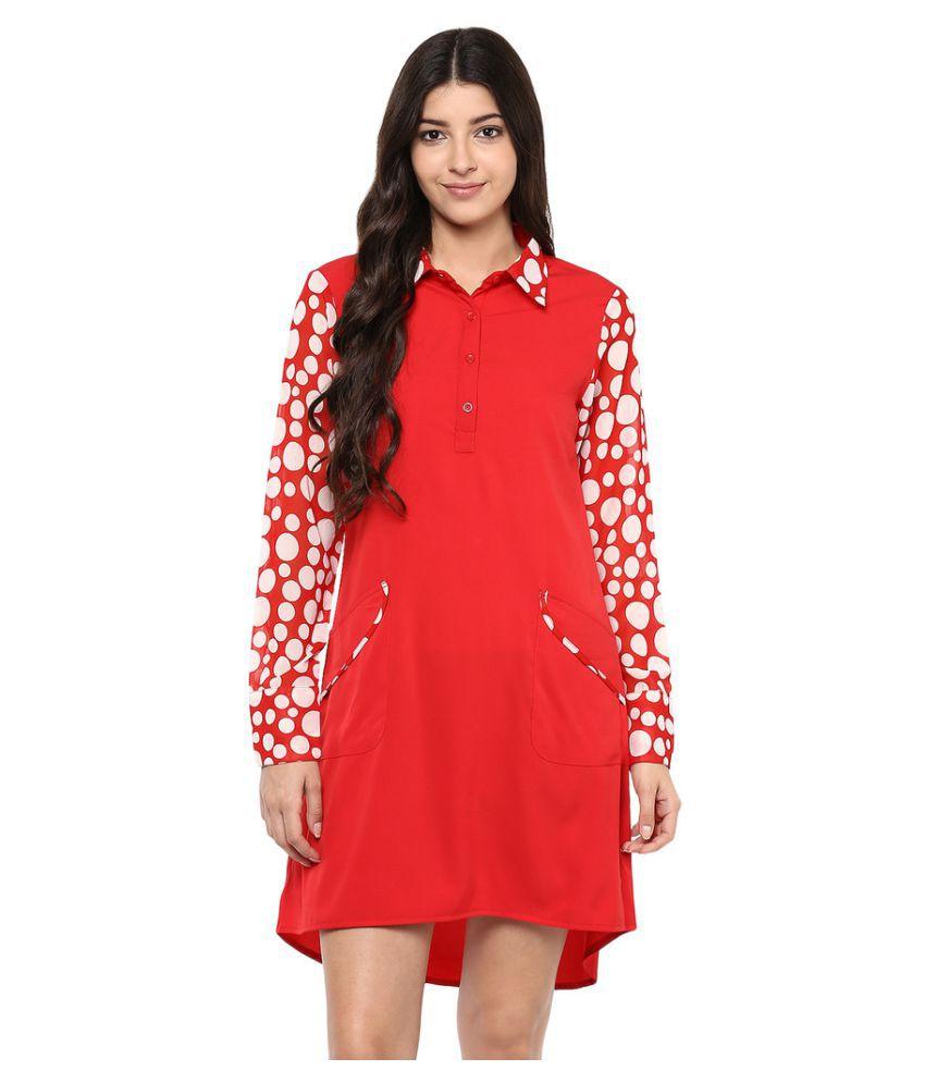 Abiti Bella Crepe Asymmetric dress