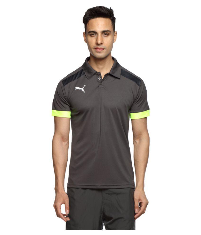 Puma Grey Polyester Polo T-Shirt Single Pack