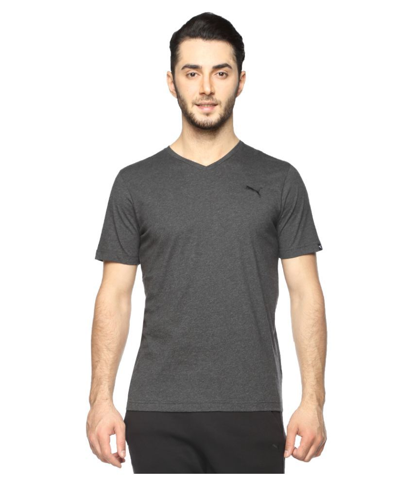 Puma Grey Cotton T-Shirt Single Pack