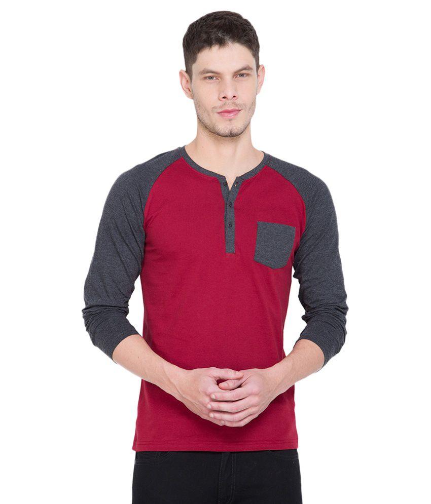 Highlander Red Henley T-Shirt