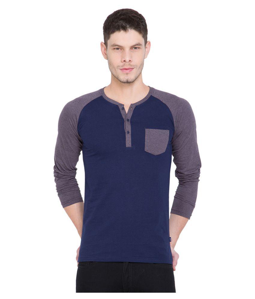 Highlander Navy Henley T-Shirt