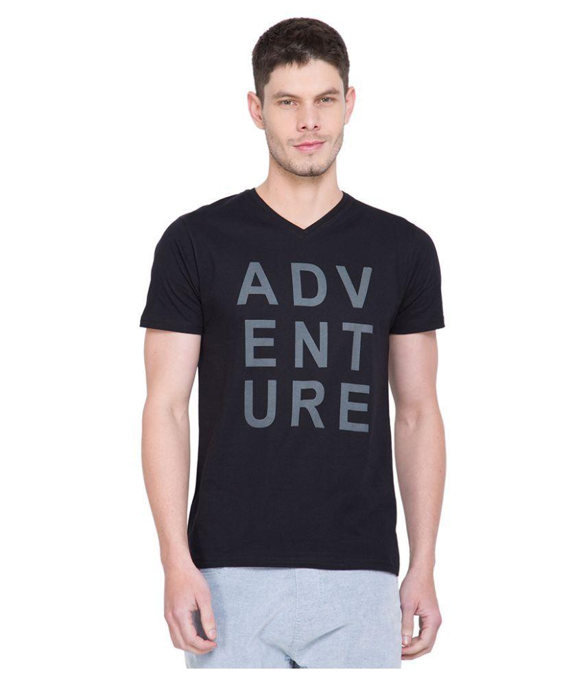 Locomotive Black V-Neck T-Shirt