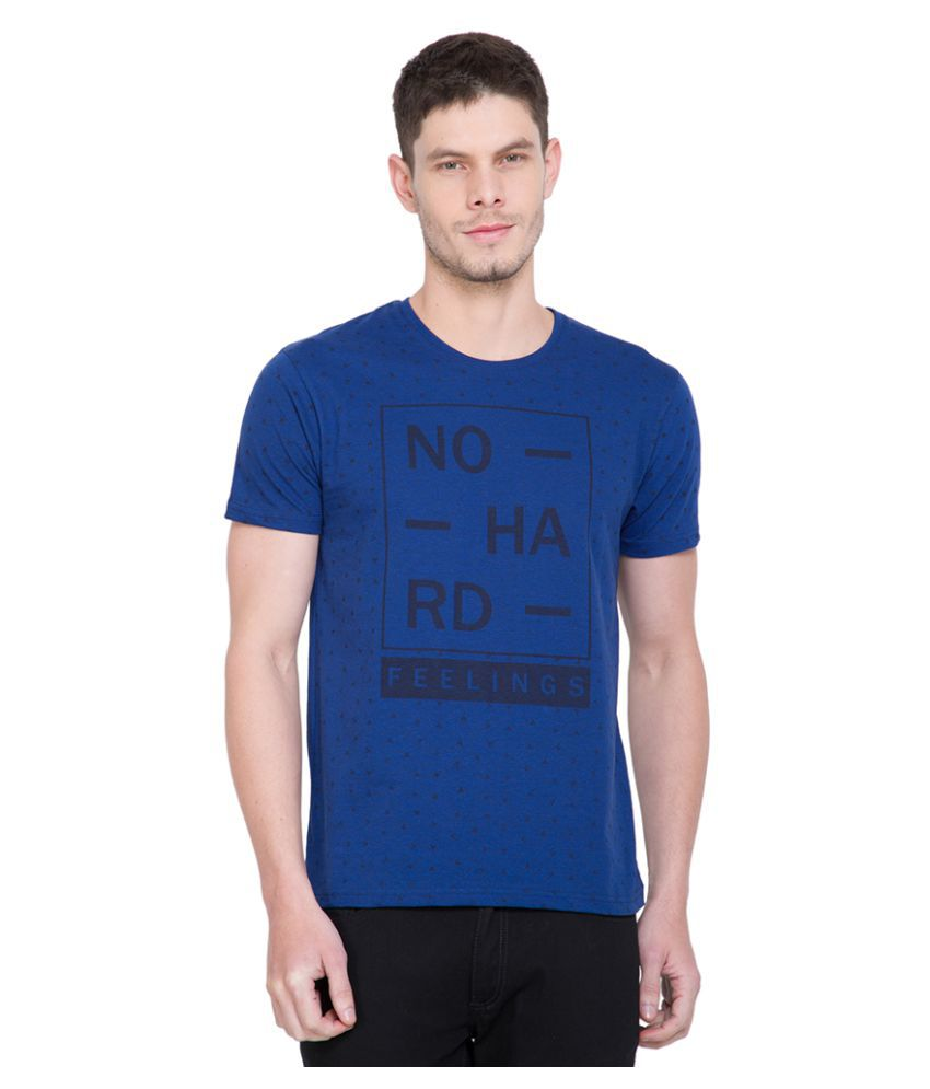 Locomotive Blue Round T-Shirt