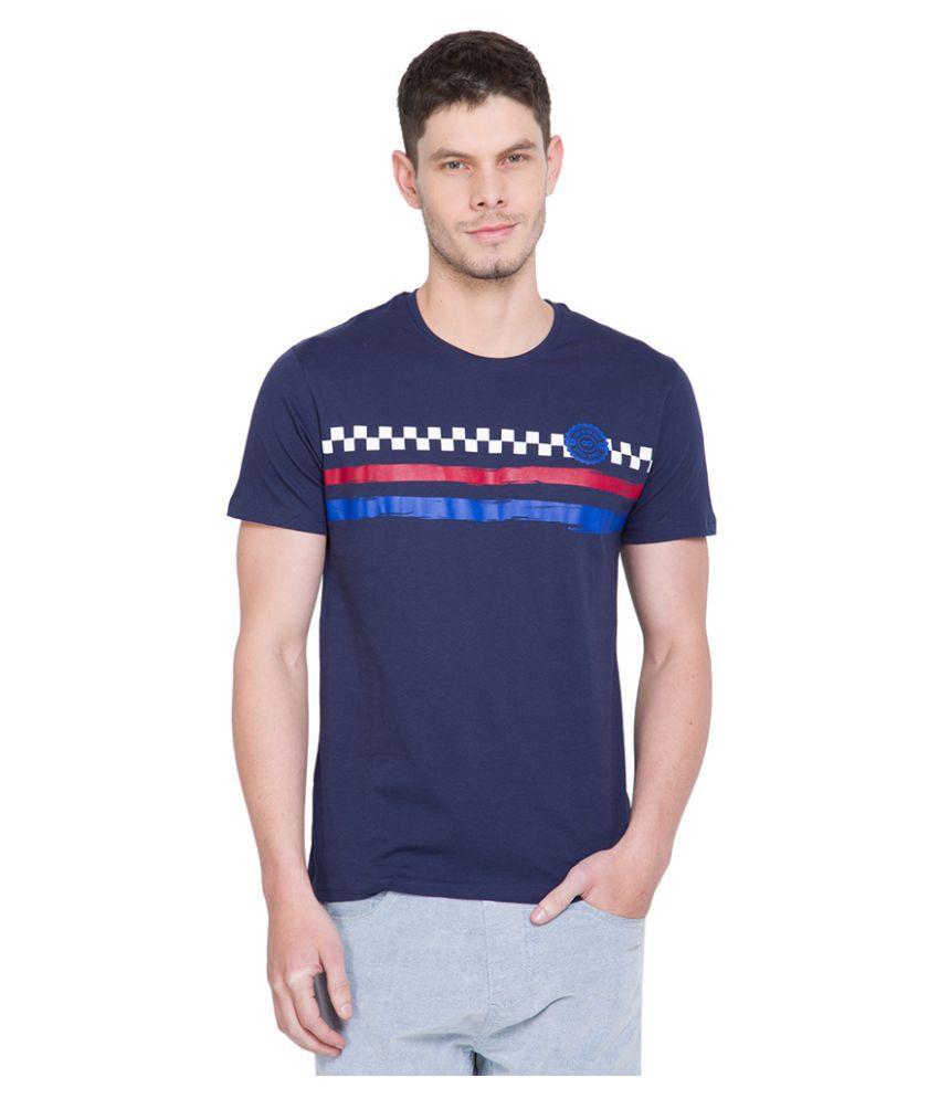 Locomotive Navy Round T-Shirt