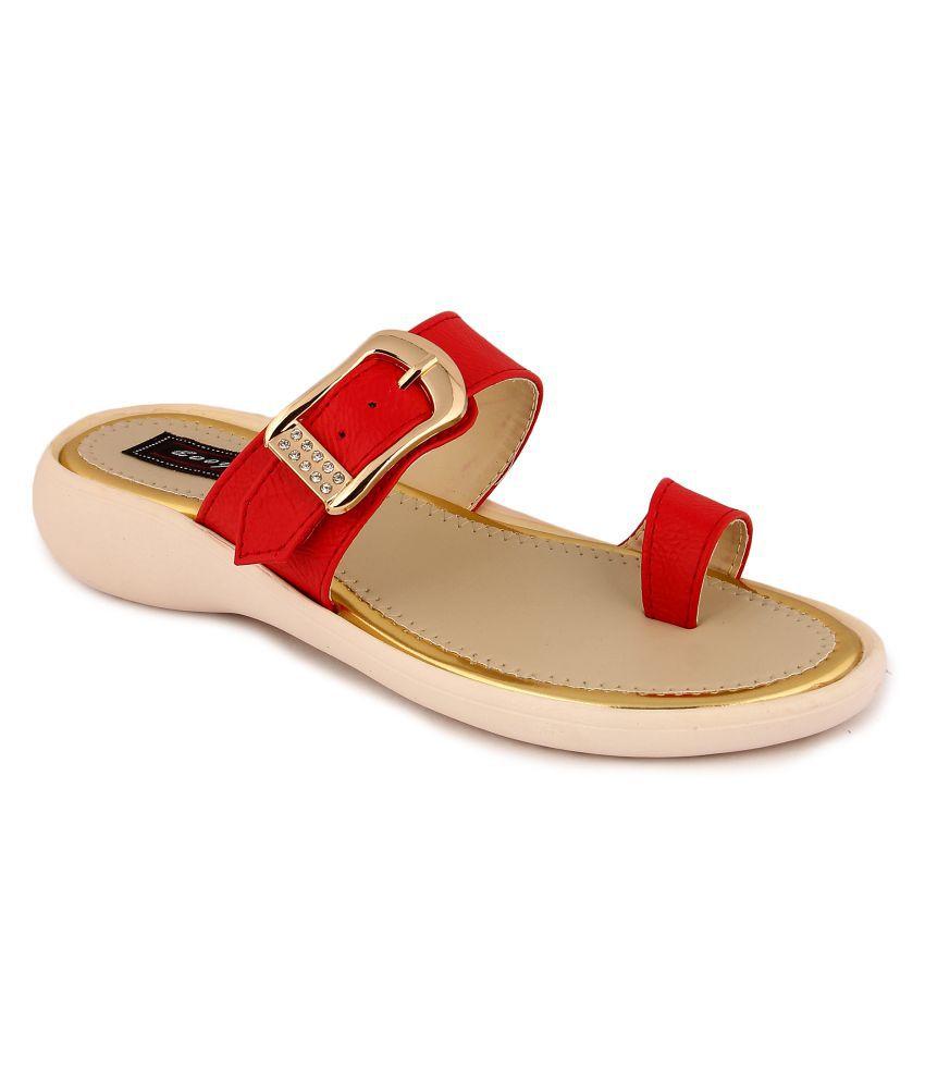 Shooz Red Slippers