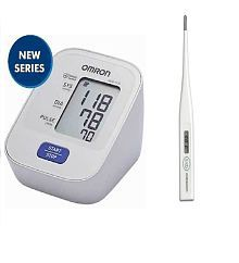 Omron HEM-7120 Upper Arm BP Monitor with Thermometer