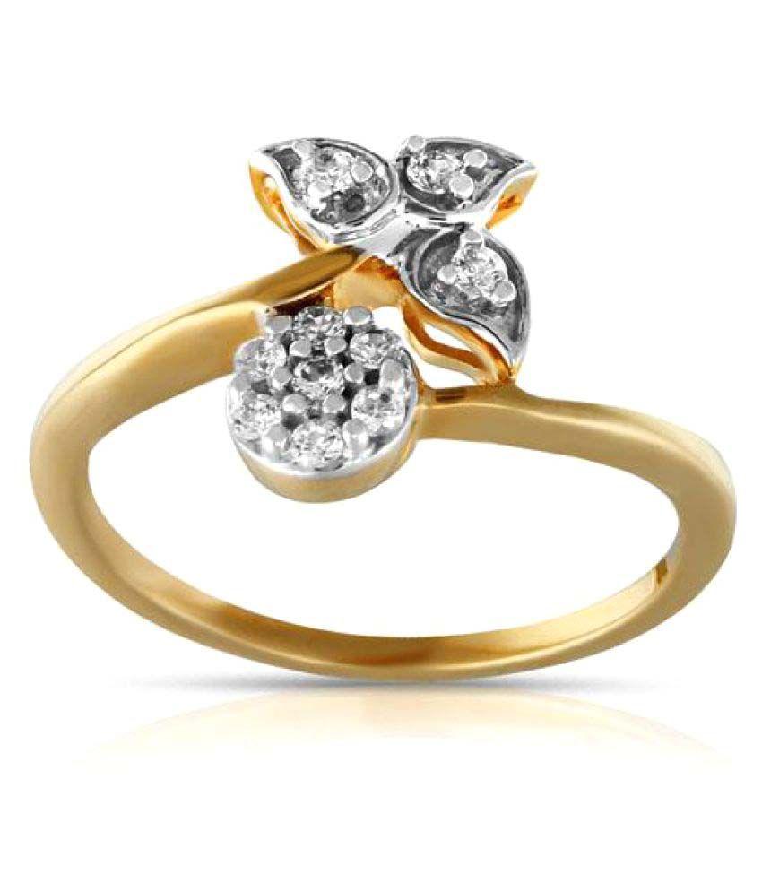 Maya Gold 22k Yellow Gold Cubic zirconia Ring