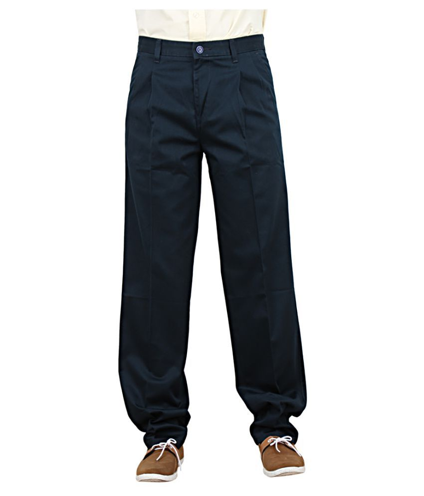 Maharaja Blue Regular Pleated Trouser