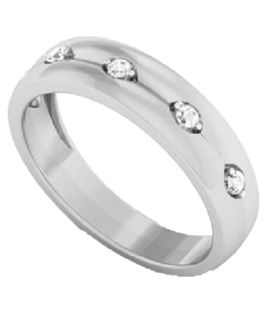 Anushka Jeweller 92.5 Silver Swarovski Band Ring