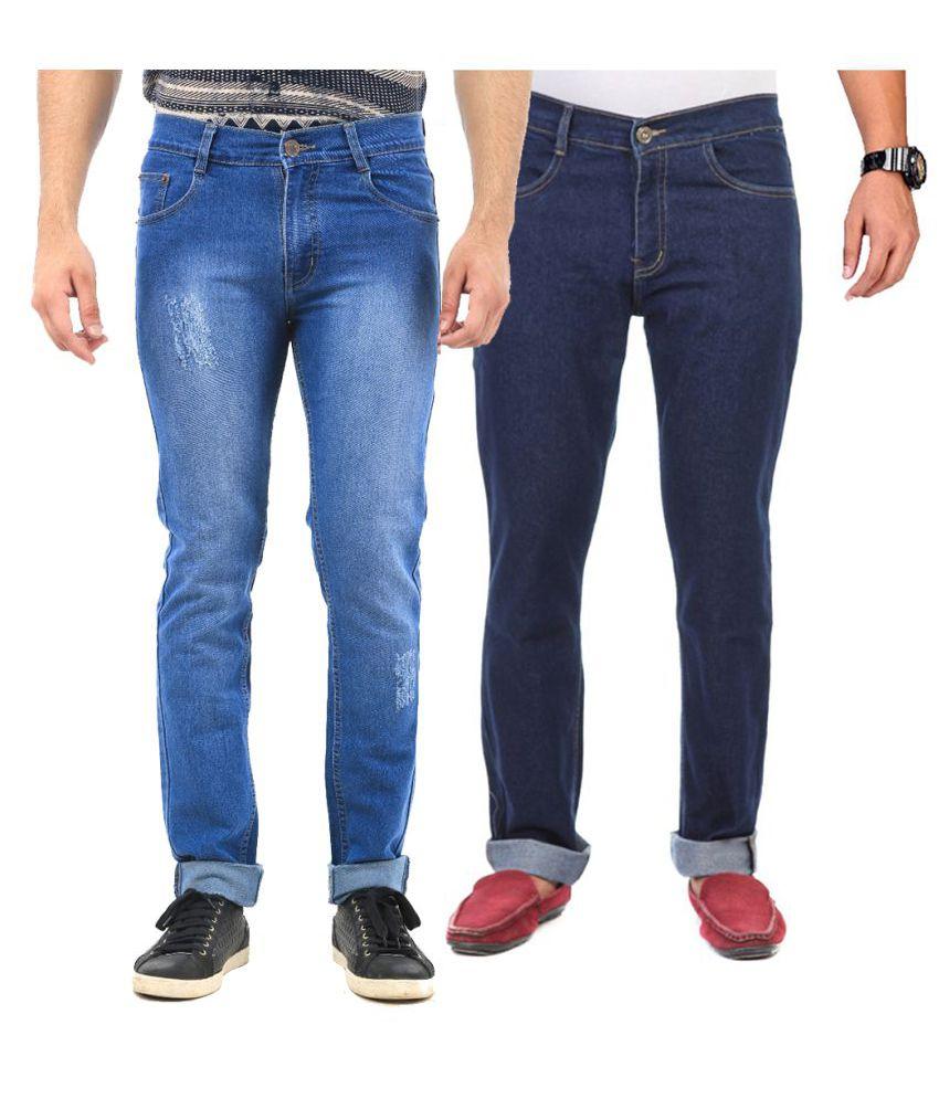 Van Galis Navy Blue Regular Fit Solid