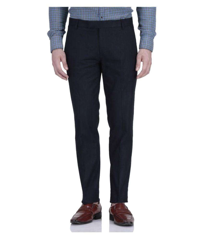 Fabulous Dark Blue Regular Pleated Trouser