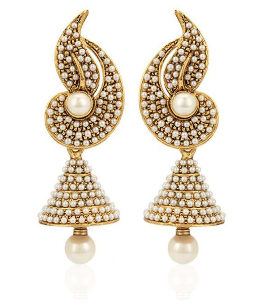 Penny Jewels Golden Jhumki Earrings Set