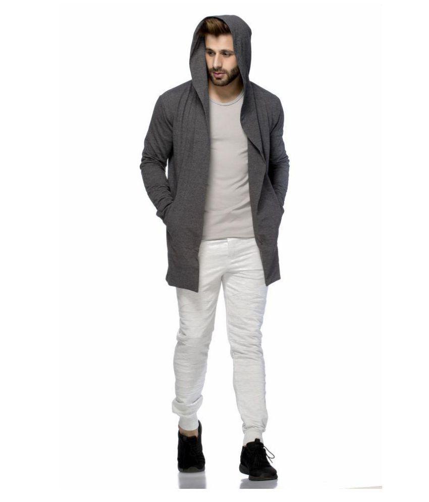 Tinted Men's Cotton Blend Hooded Cardigan - Buy Tinted Men's ...