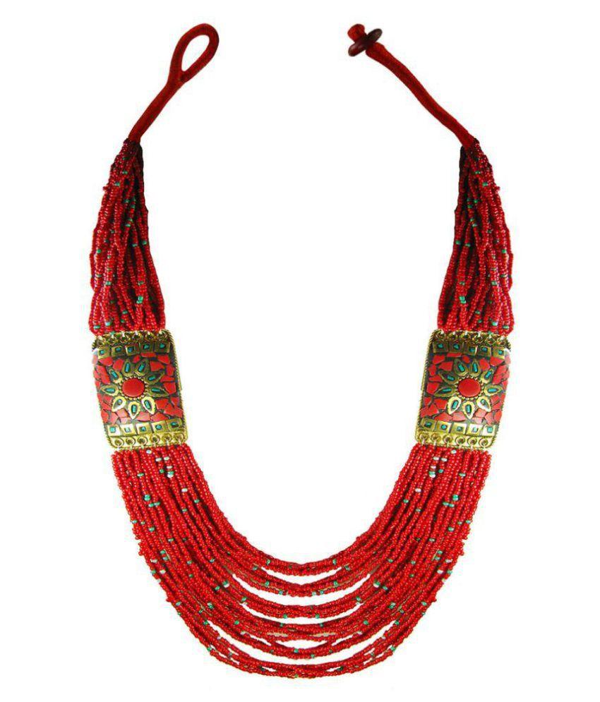 Collana Multi-color Beaded Necklace
