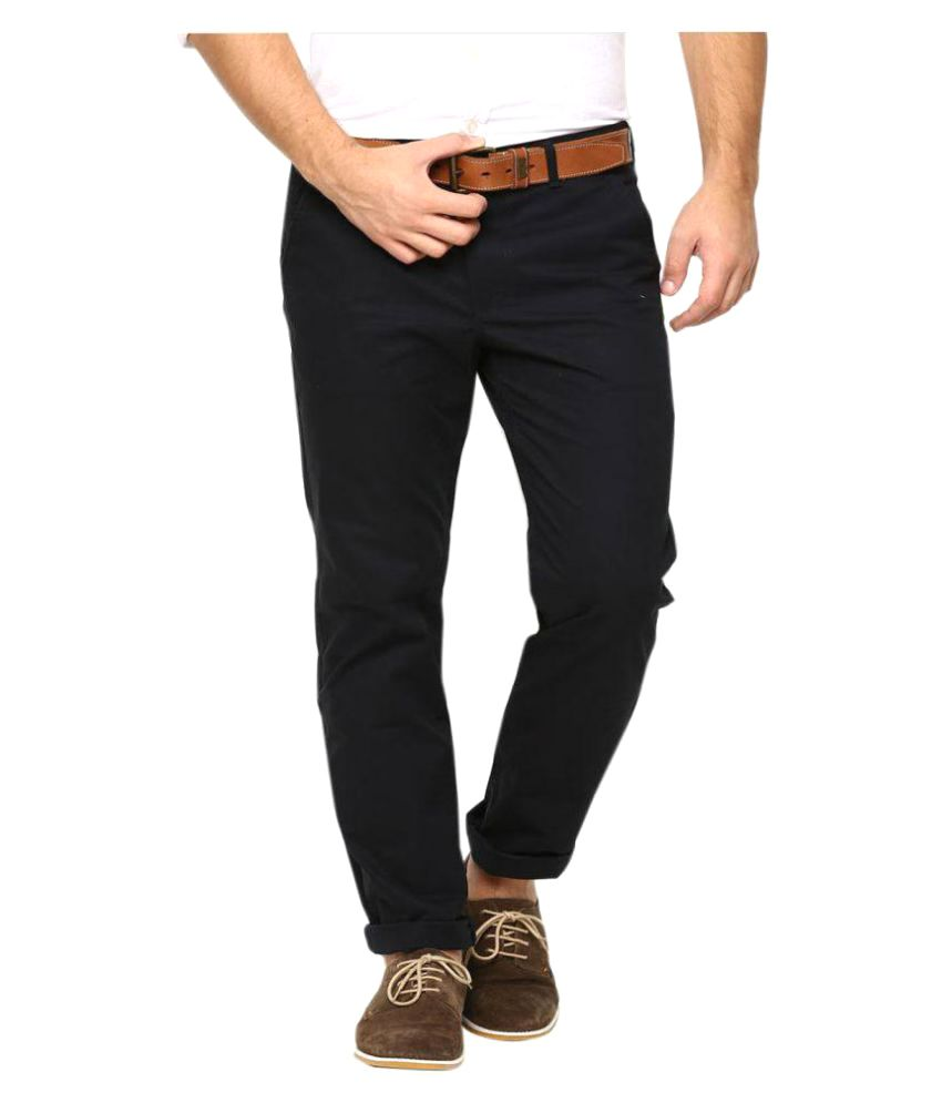 AD & AV Black Slim Flat Trouser