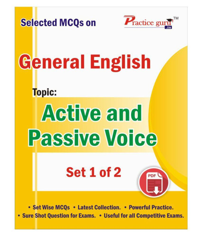 Selected MCQs on English - Active and Passive Voice Set 1 of 2 Downloadable  Content