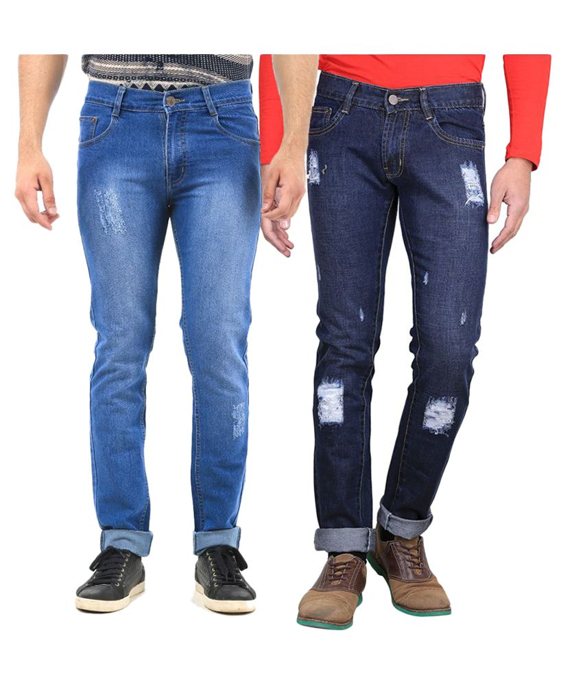 Van Galis Multi Regular Fit Distressed