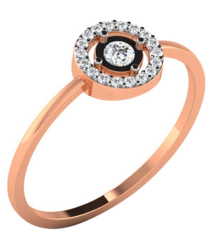 His & Her 18K Rose Gold Diamond Ring