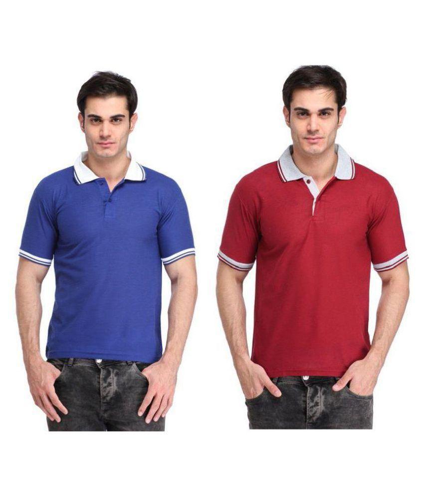 Quick Shop Multi V-Neck T-Shirt Pack of 2