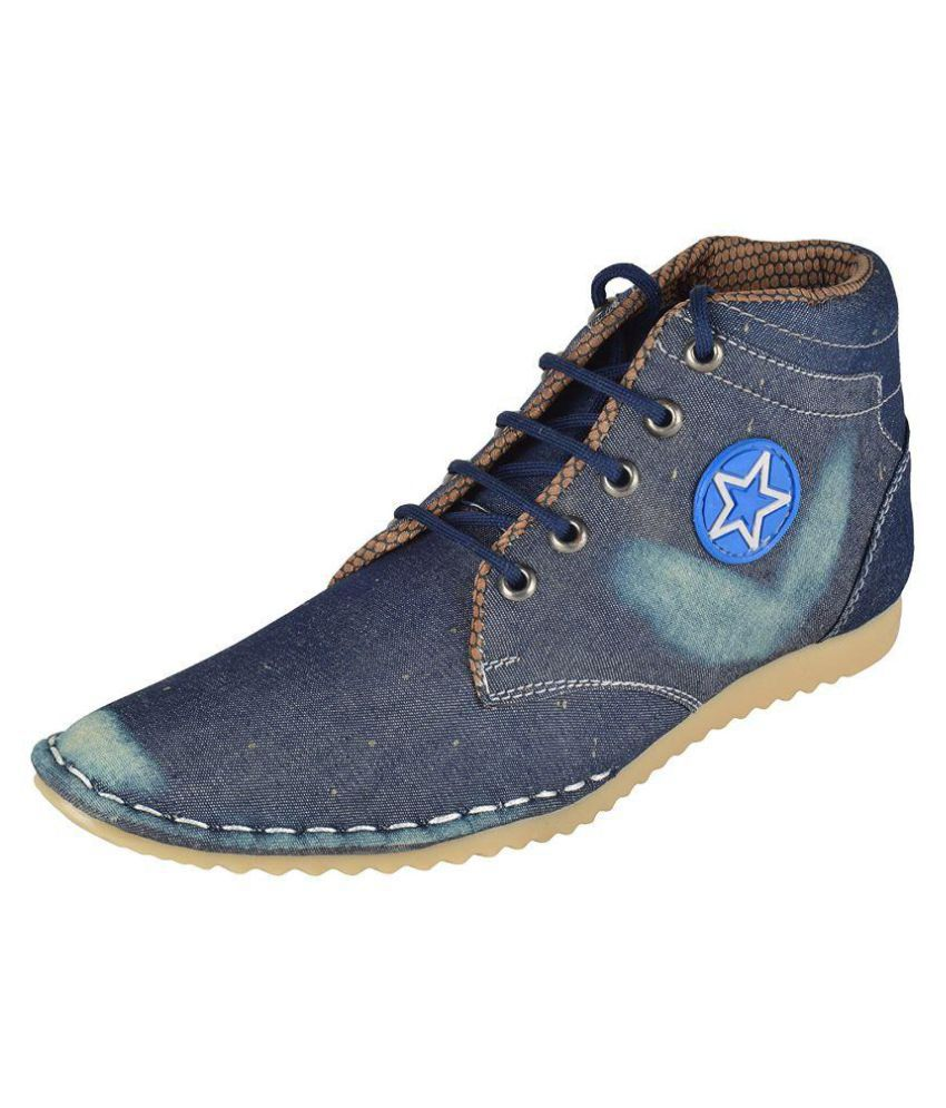 SHOESBANK Blue Casual Boot