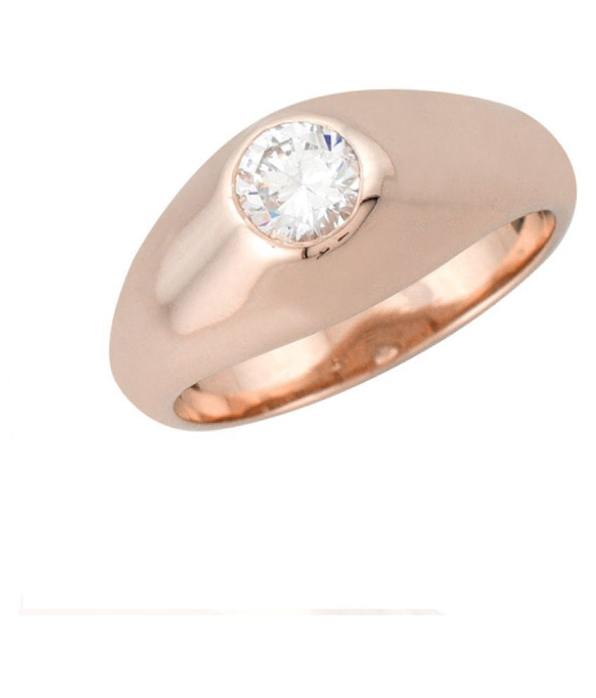 Sparkles 9K Rose Gold Diamond Ring
