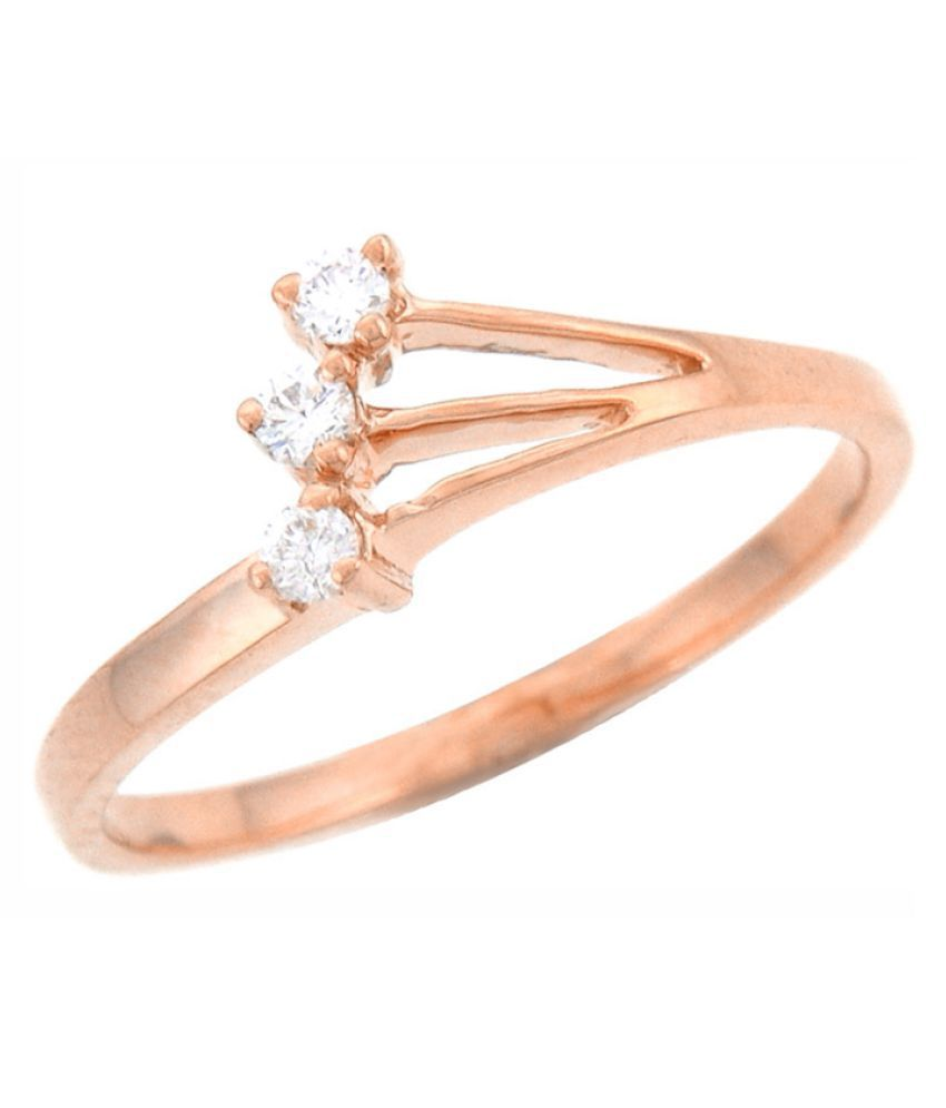 His & Her 9K Rose Gold Diamond Ring