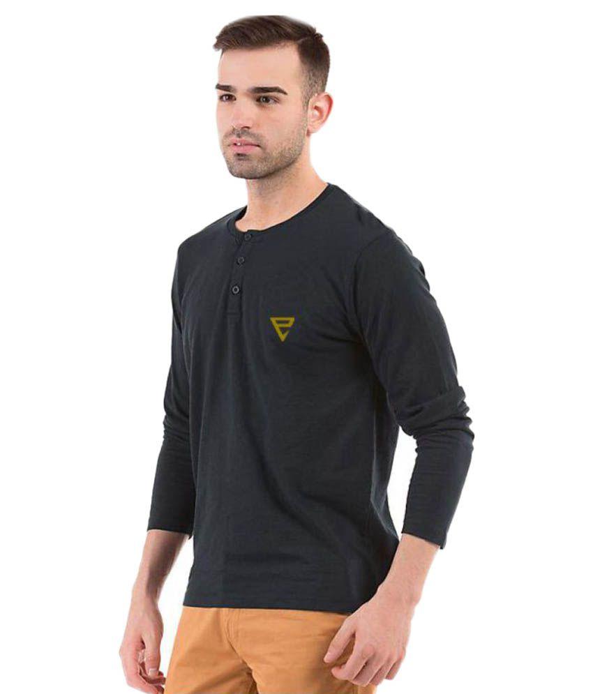 Eposch Black Henley T-Shirt