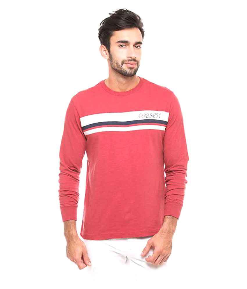 Eposch Red Round T-Shirt