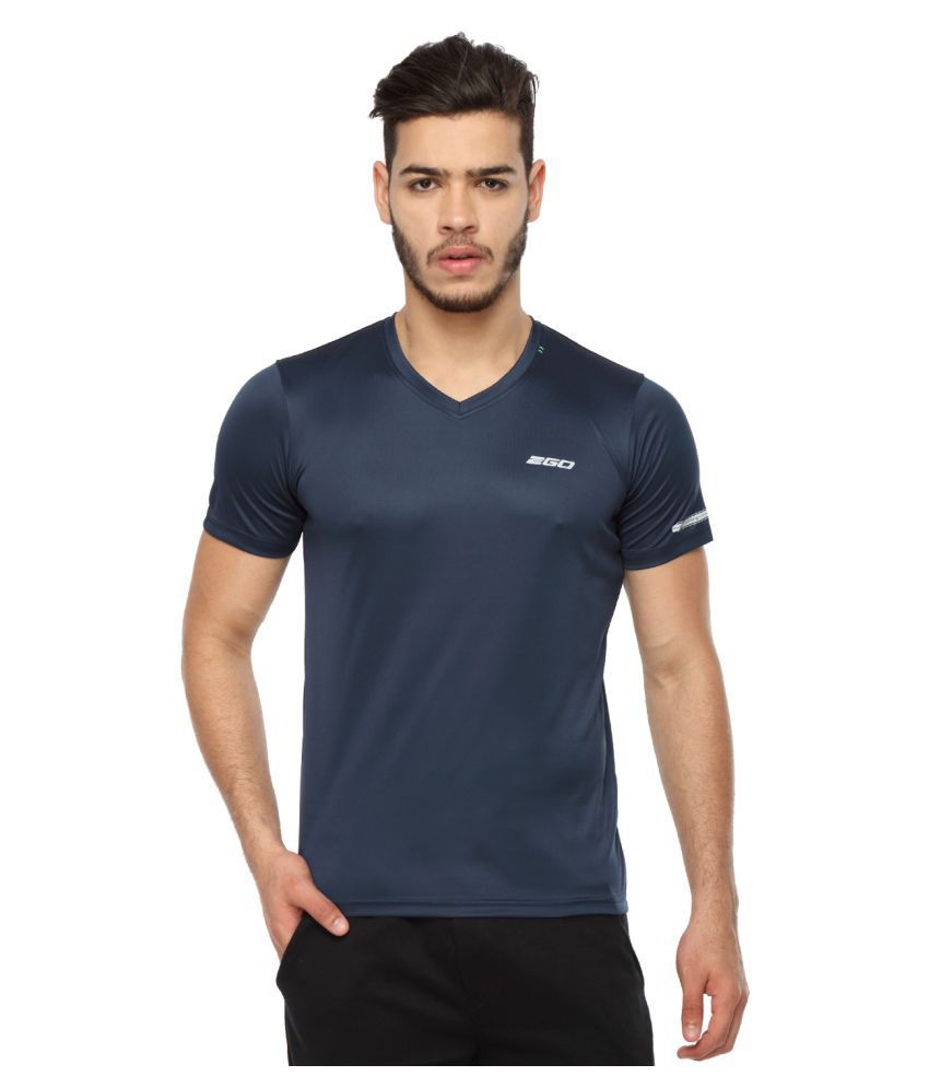 2go Navy V-Neck T-Shirt
