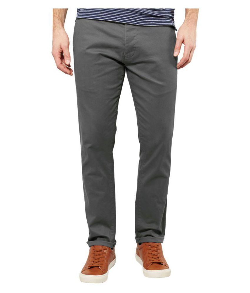 AD & AV Grey Slim Flat Trouser