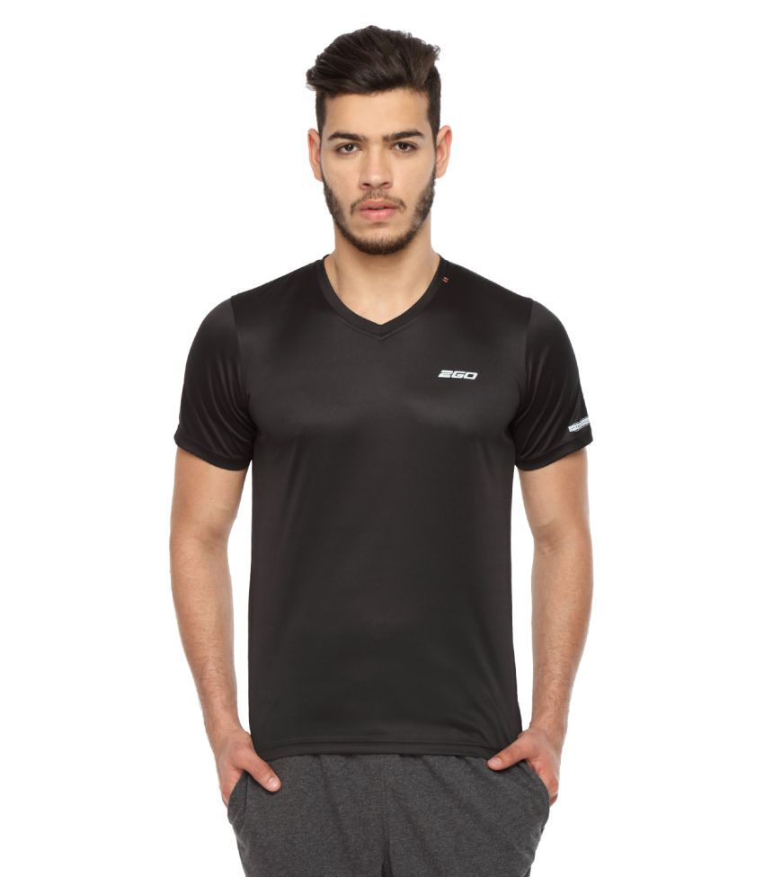 2go Black V-Neck T-Shirt